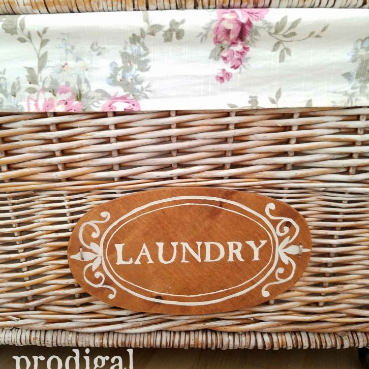 Hand-Painted Cottage Style Laundry Cart by Prodigal Pieces | prodigalpieces.com