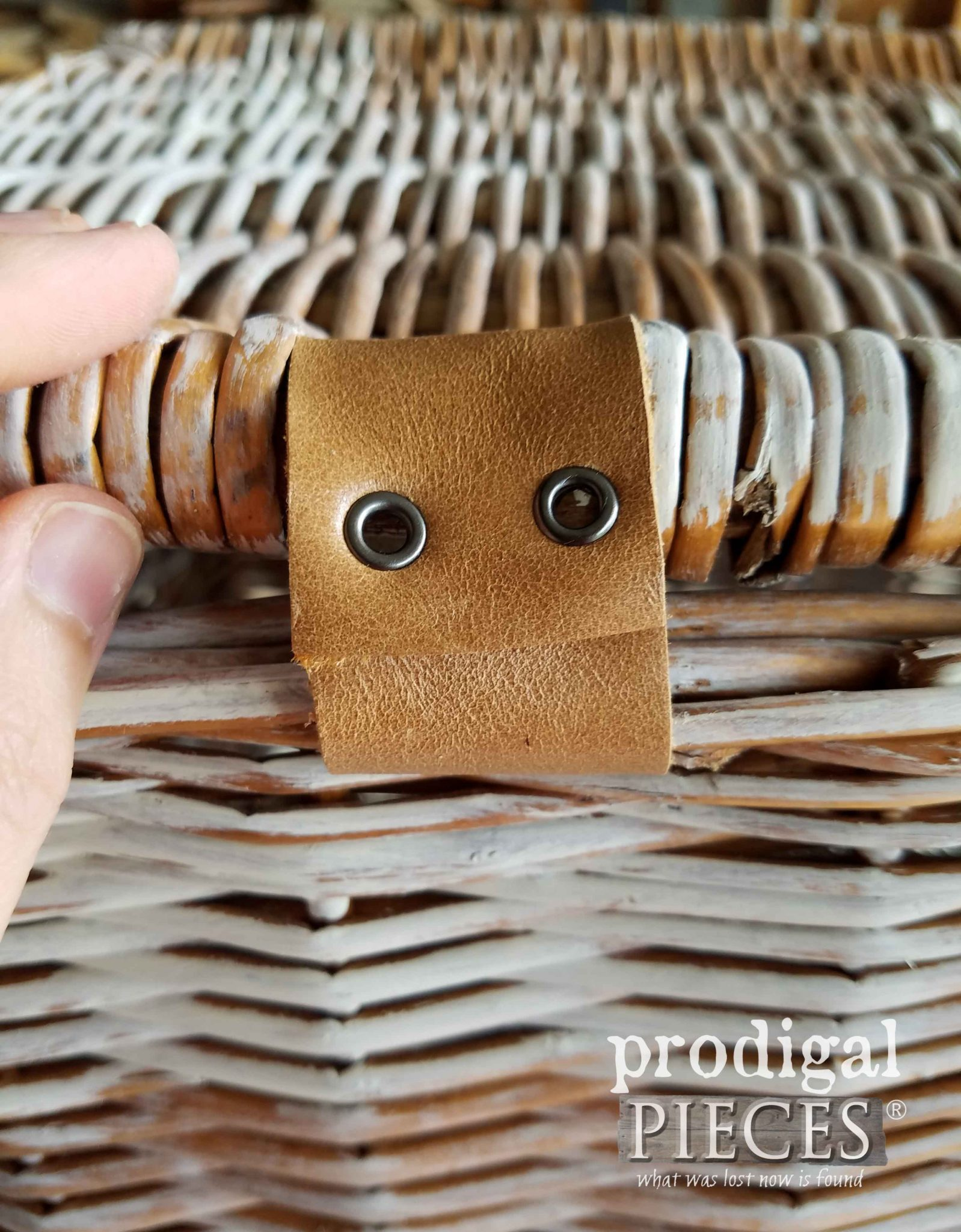 Leather Hinge made with Eyelets and Crop-A-Dile by Prodigal Pieces | prodigalpieces.com
