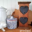 Primitive Heart-Shaped Cubby with two drawers available at Prodigal Pieces | prodigalpieces.com