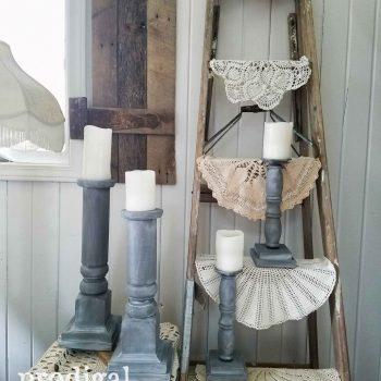 Check out these candlesticks made from curbside finds by Prodigal Pieces | prodigalpieces.com