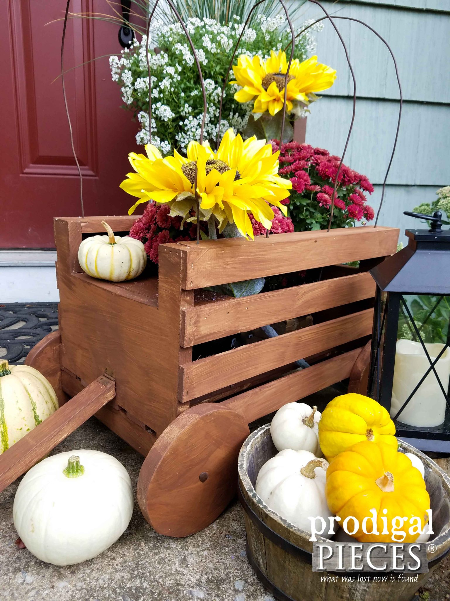 Rustic Crate Wagon with Tutorial by Prodigal Pieces | prodigalpieces.com