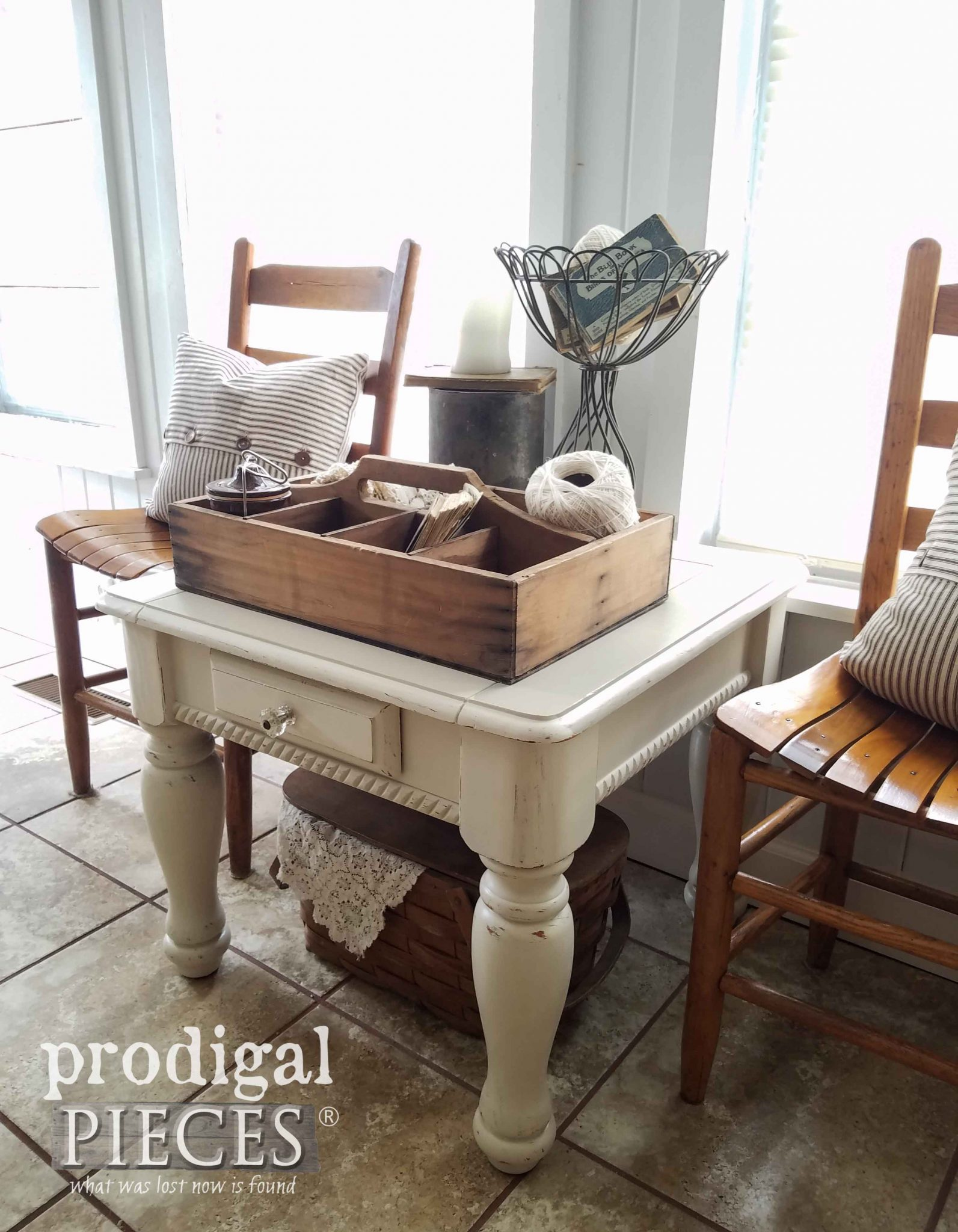Rustic Farmhouse Side Table Makeover by Prodigal Pieces | prodigalpieces.com