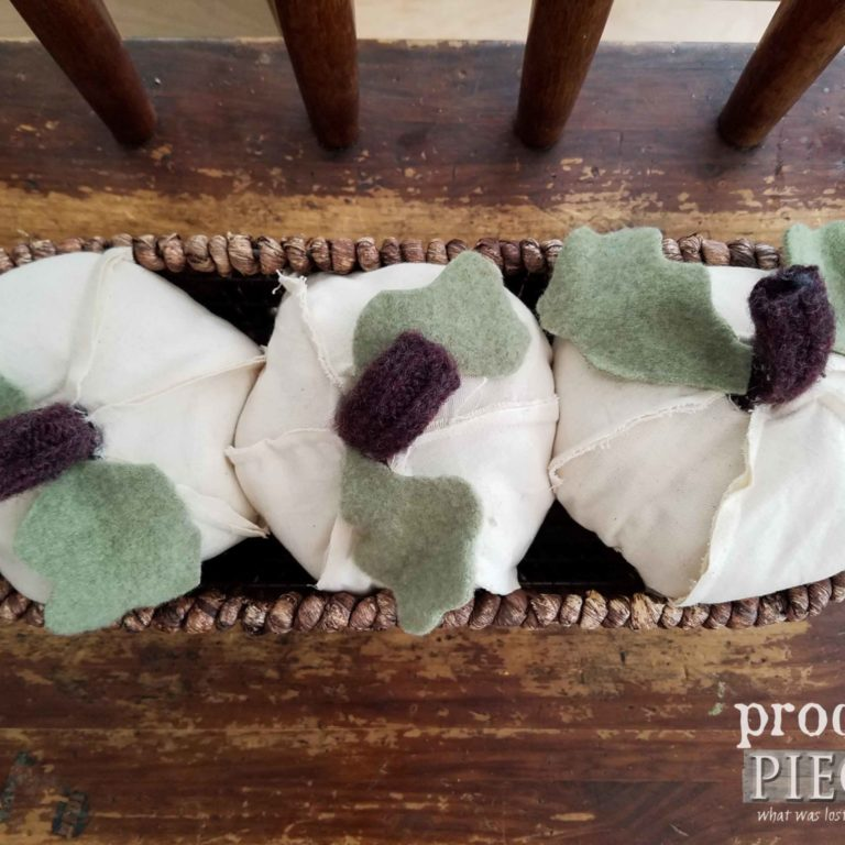 Rustic White Handmade Repurposed Pumpkins by Prodigal Pieces | prodigalpieces.com