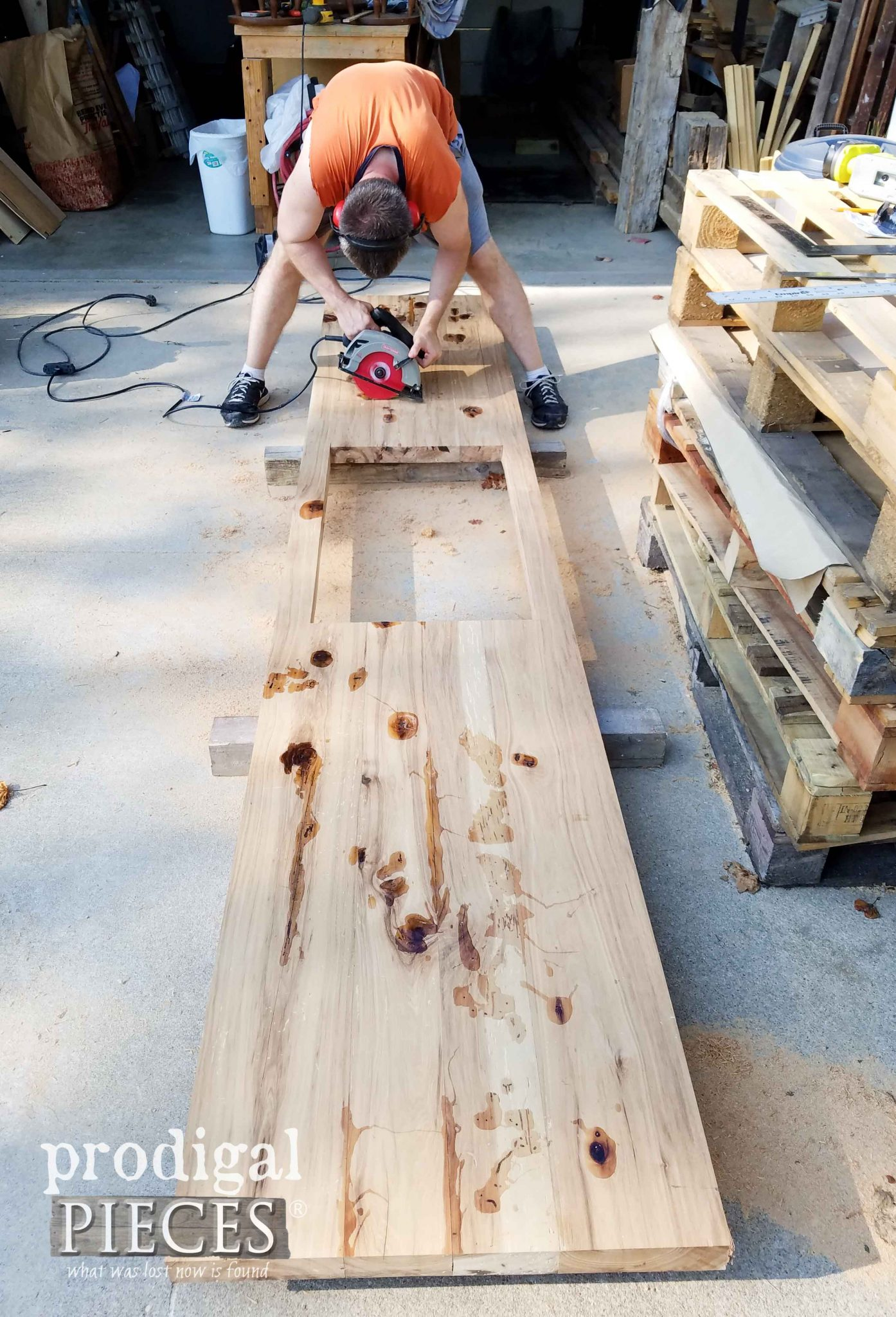 Sawing Reclaimed Hickory Countertops by Prodigal Pieces | prodigalpieces.com