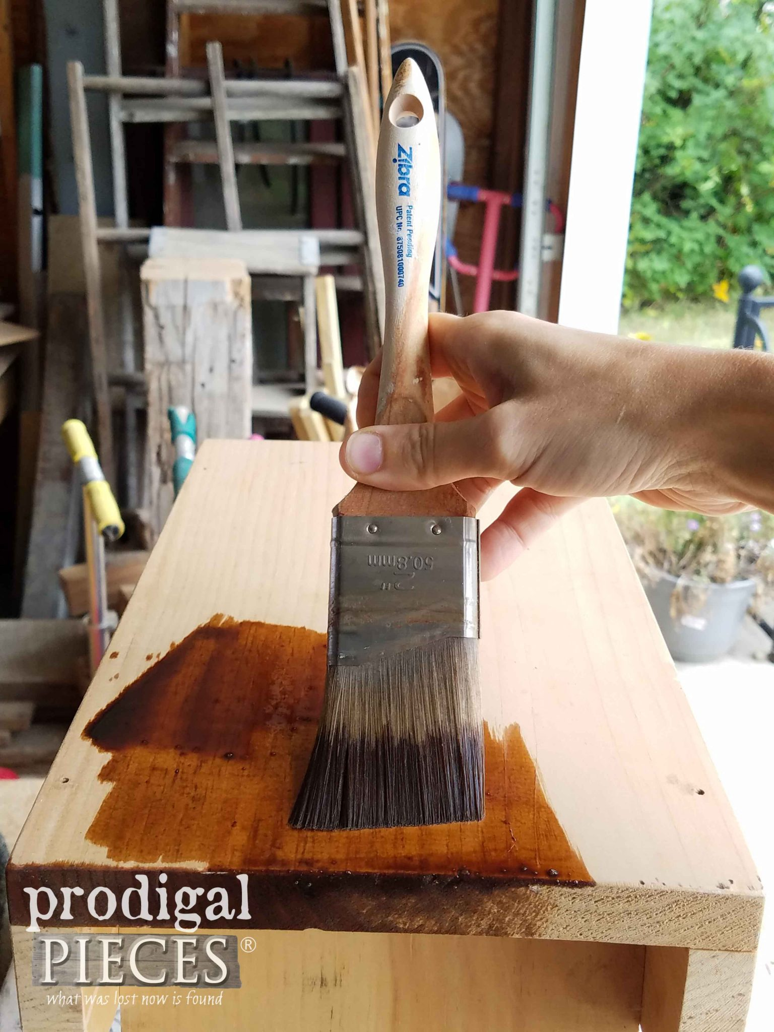Staining Farmhouse Milking Stool | prodigalpieces.com