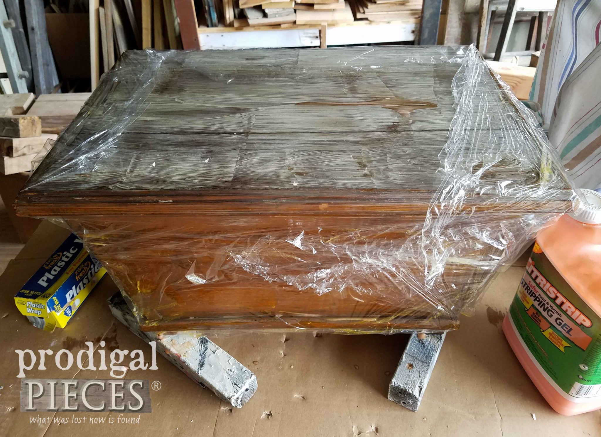 Stripping Handmade Chest for Farmhouse Style by Prodigal Pieces | prodigalpieces.com