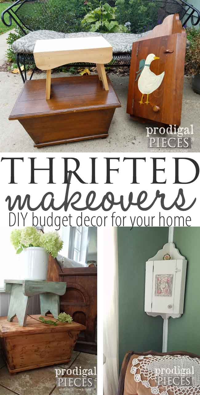 Three Thrifted Makeovers for Budget Decor by Prodigal Pieces to show you how even on a budget you can get the look you want too. Details at prodigalpieces.com