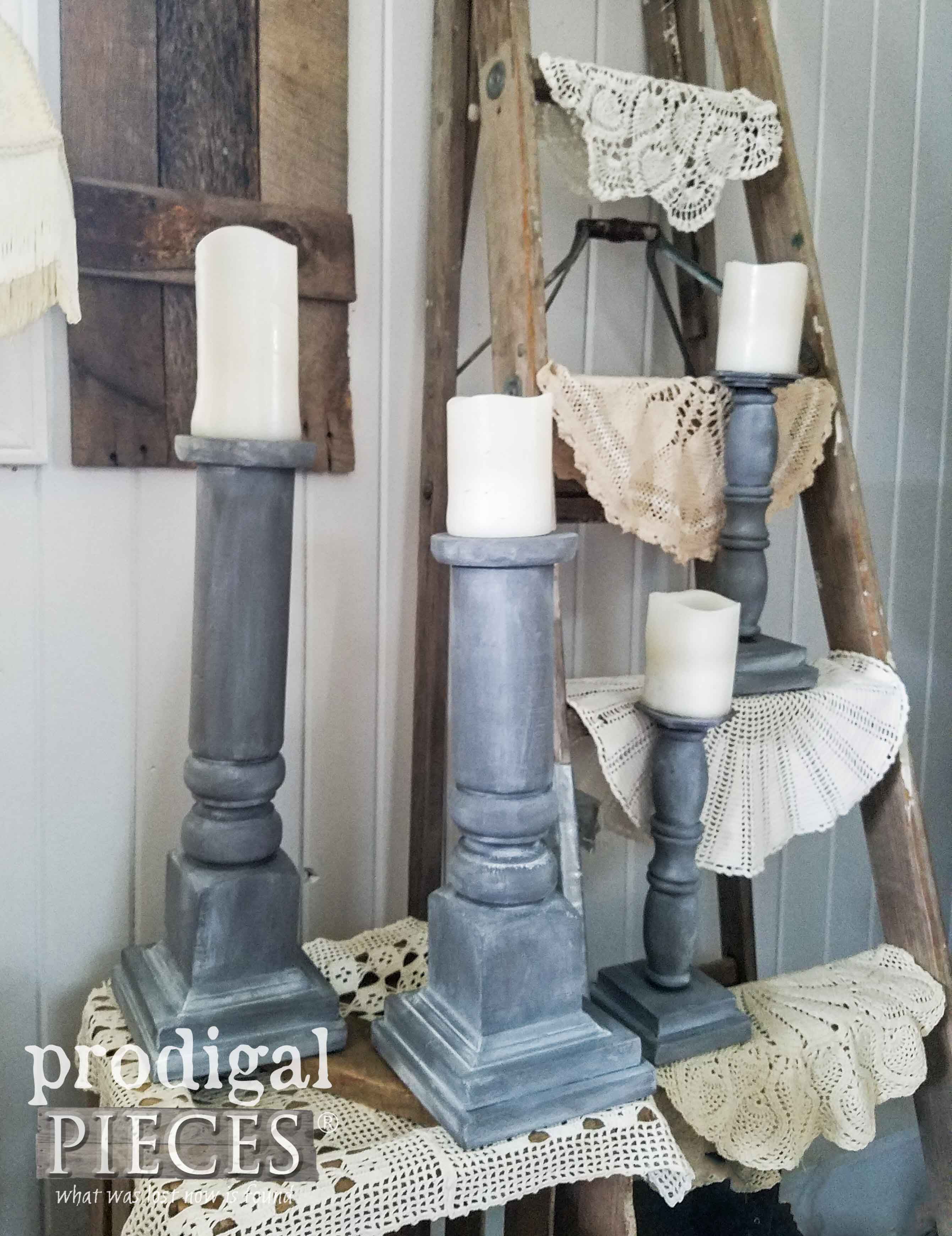 DIY Upcycled Candlesticks from Repurposed Materials by Prodigal Pieces | prodigalpieces.com