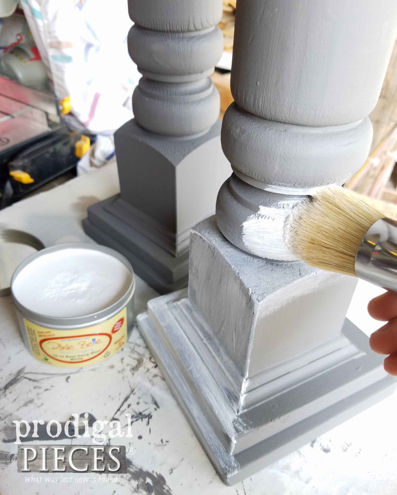 Waxing Candlesticks with White Wax by Prodigal Pieces | prodigalpieces.com