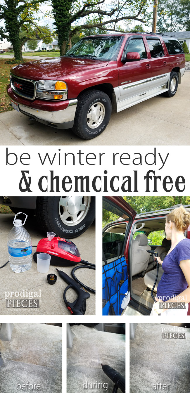 Be chemical free and do winter-ready car care with this wonderful steam machine. Come see it in action at Prodigal Pieces | prodigalpieces.com