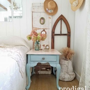 Cottage Style Queen Anne Table in Vintage Duck Egg by Prodigal Pieces | prodigalpieces.com
