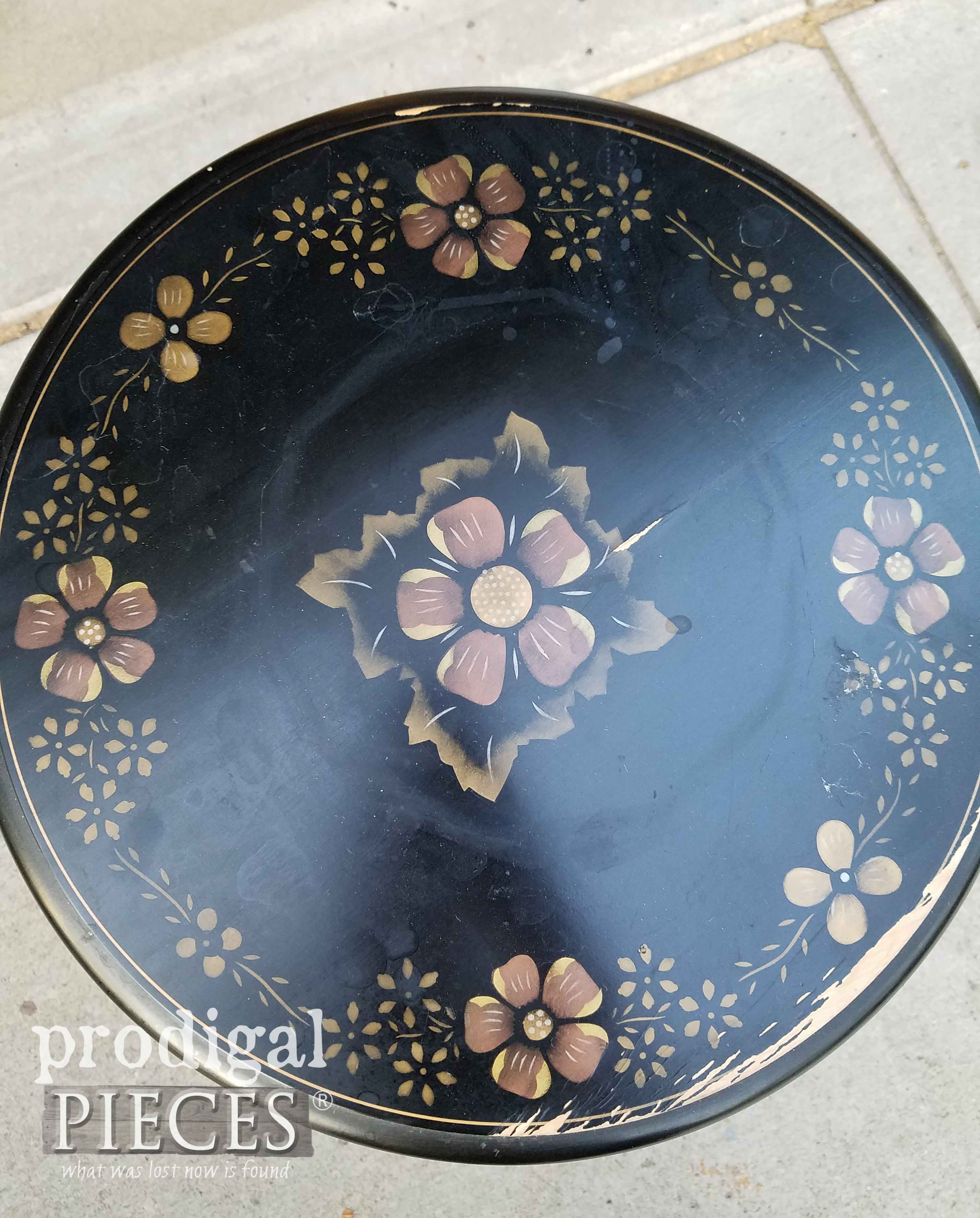 Damaged Top of Ethan Allen Table | prodigalpieces.com