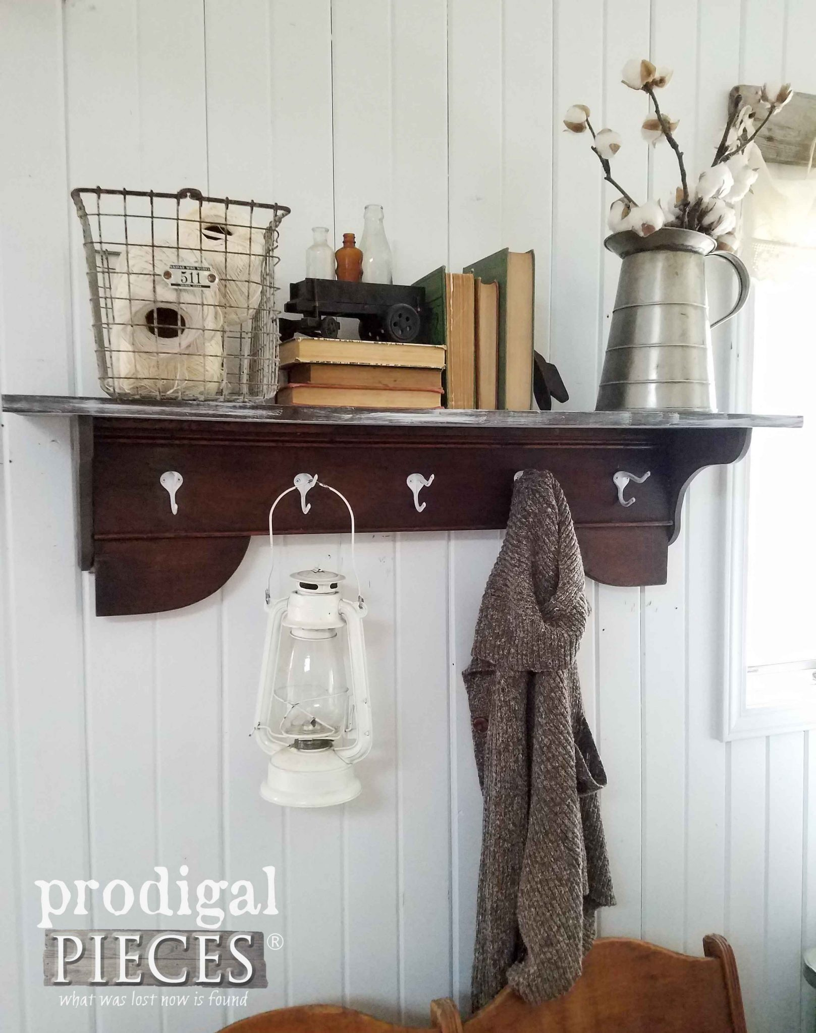 Reclaimed Bed Turned into Rustic Farmhouse Coat Rack by Prodigal Pieces | prodigalpieces.com