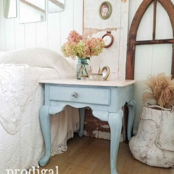 Cottage Farmhouse Style Queen Anne Side Table Makeover by Prodigal Pieces | prodigalpieces.com