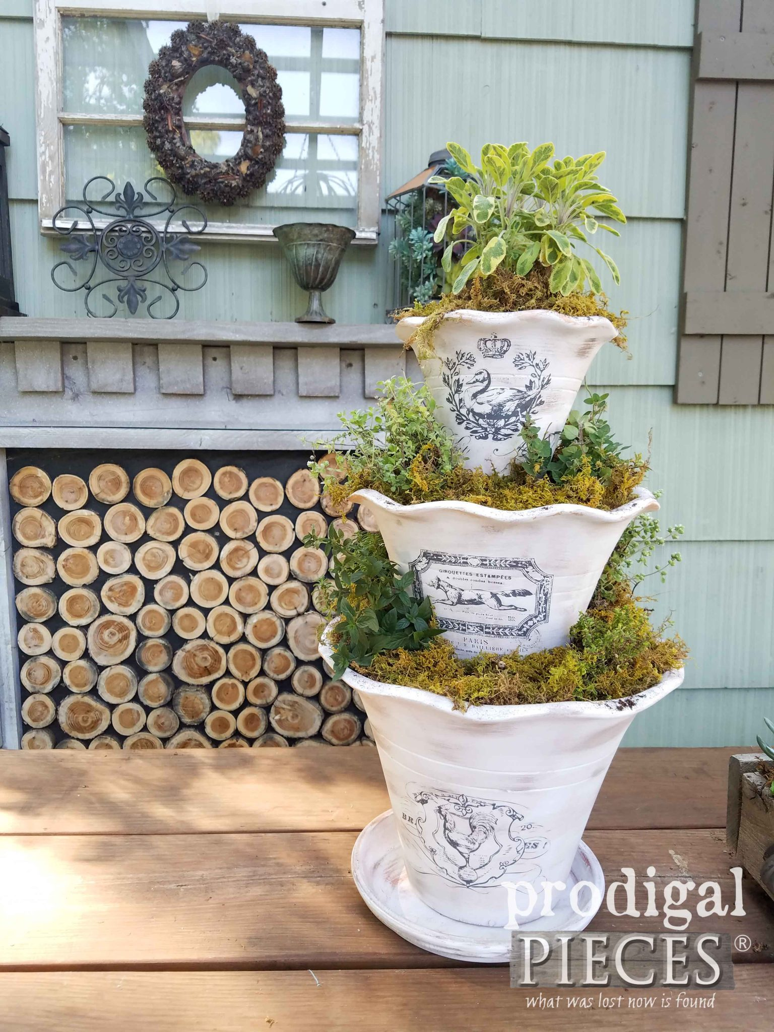 Whitewashed French Pot Planter with Video Tutorial by Prodigal Pieces | prodigalpieces.com
