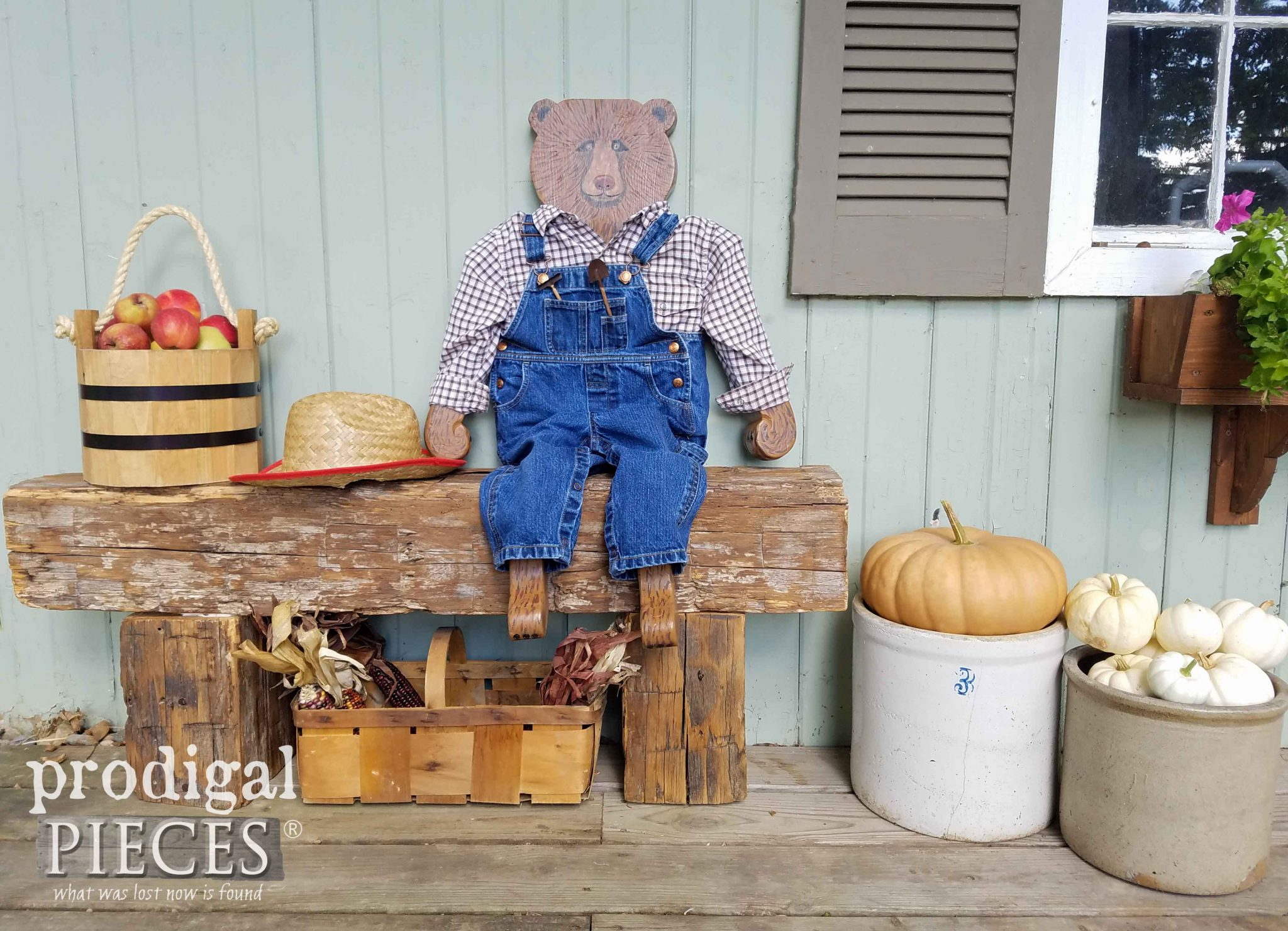 Handmade Hurricane Harvey the Bear Auctioned off for Disaster Relief by Larissa Haynes of Prodigal Pieces | prodigalpieces.com