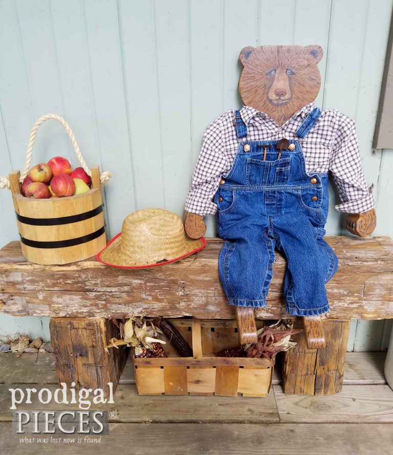 Hand-crafted Harvey the Bear by Larissa Haynes of Prodigal Pieces | prodigalpieces.com