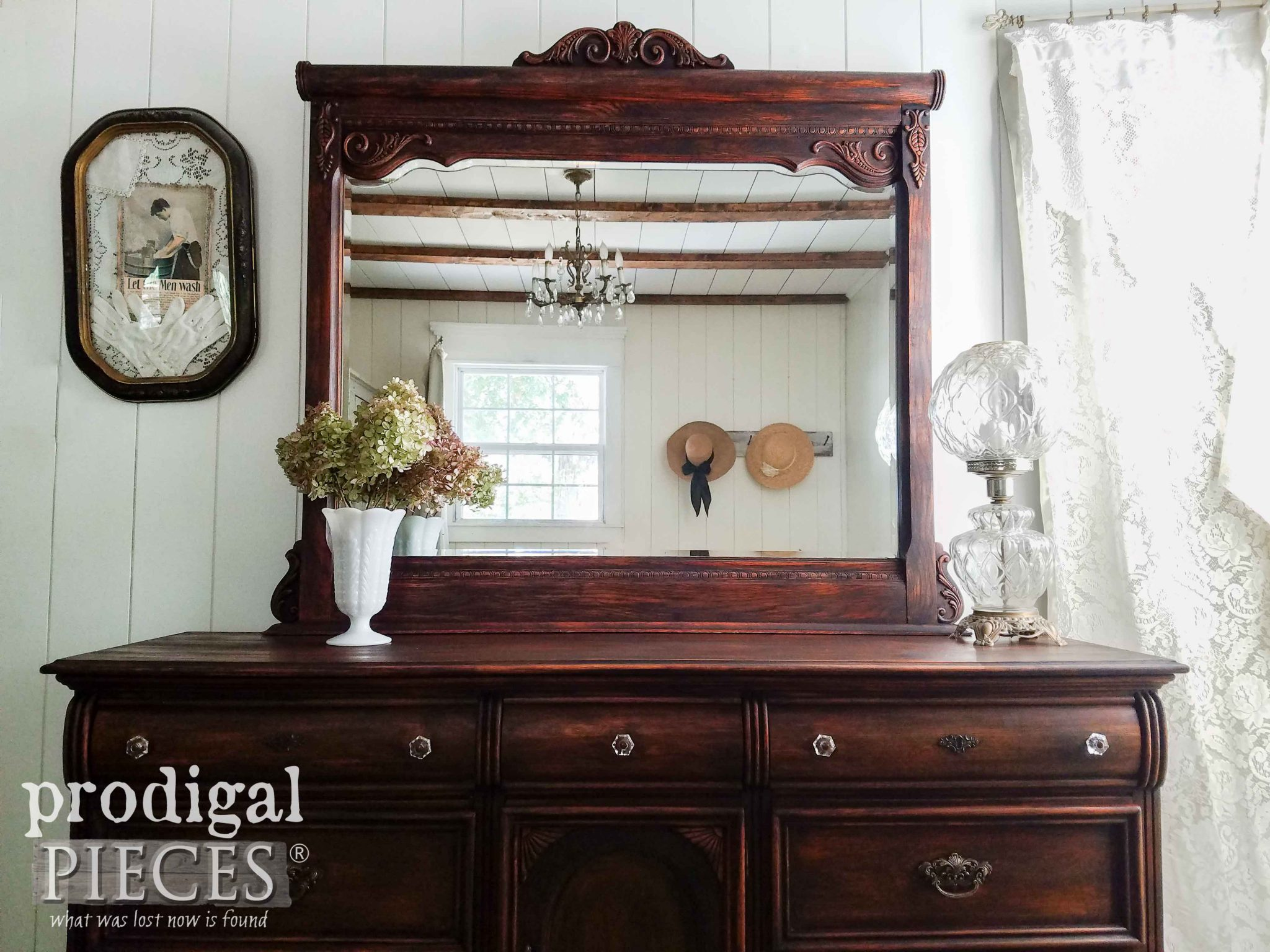 Mirrored Lexington Dresser gets New Look by Prodigal Pieces | prodigalpieces.com