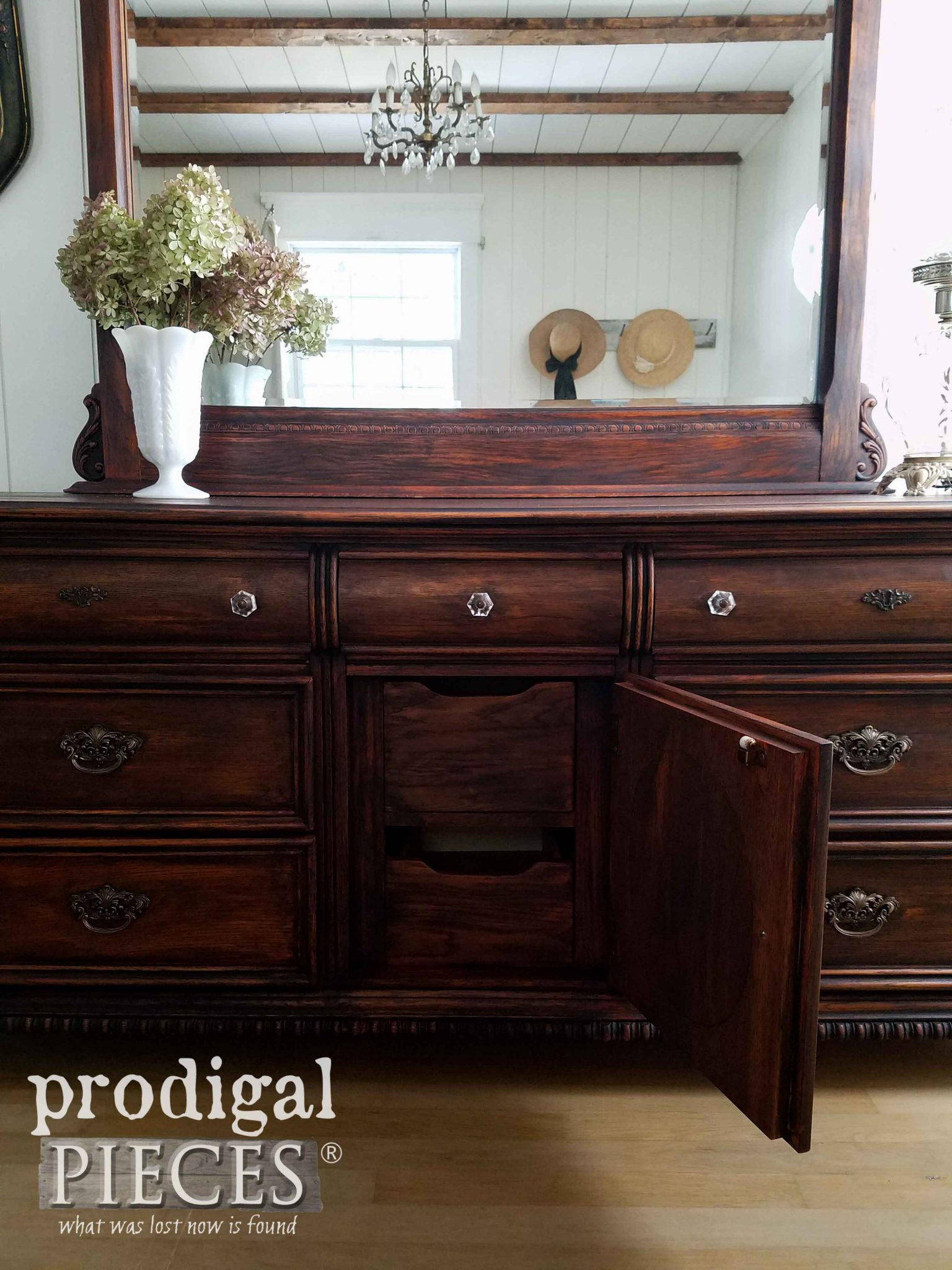 Open Dresser Drawer of Lexington Triple Drawer Dresser by Prodigal Pieces | prodigalpieces.com