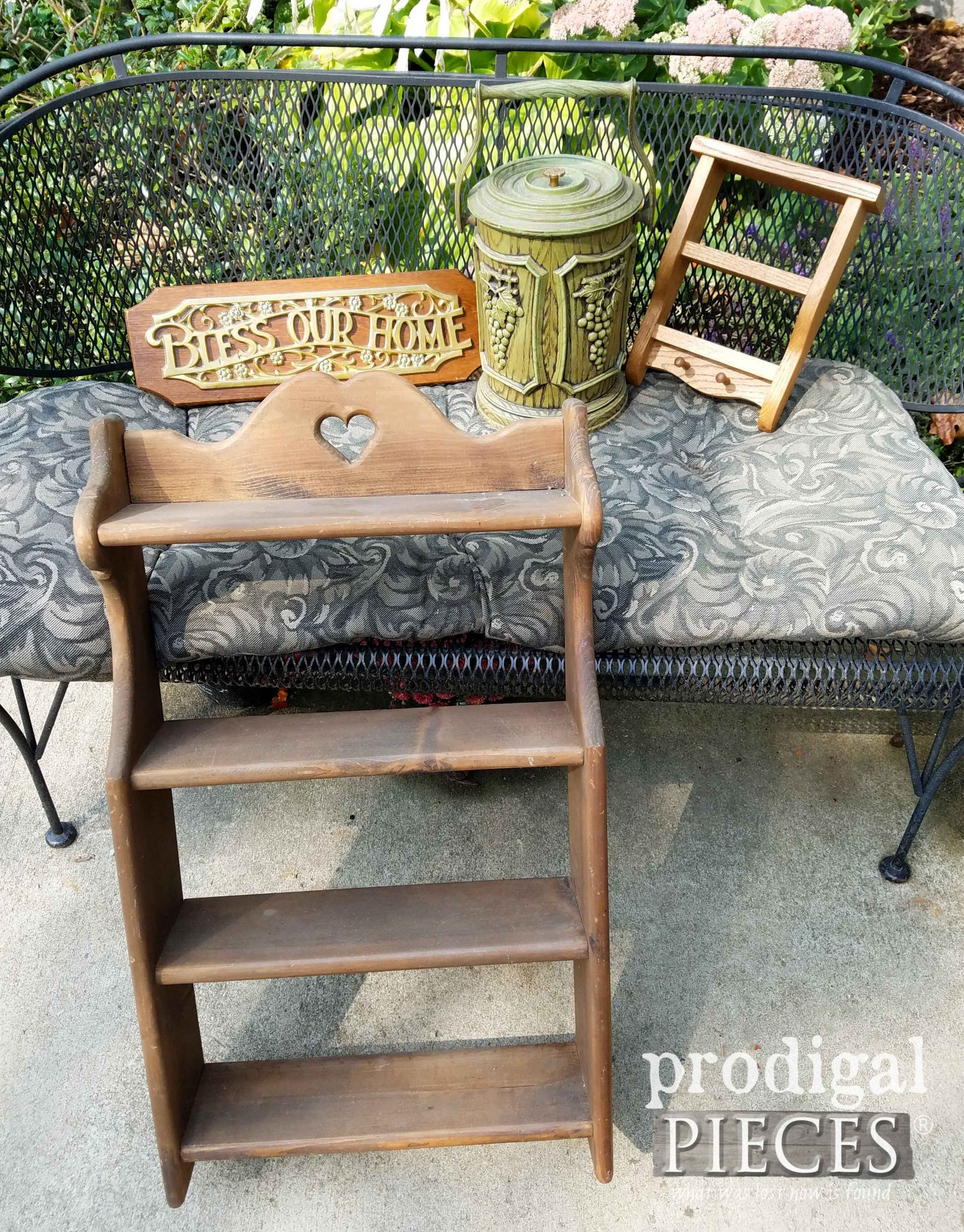 Thrifted Decor Pile for Farmhouse Makeover by Prodigal Pieces | prodigalpieces.com