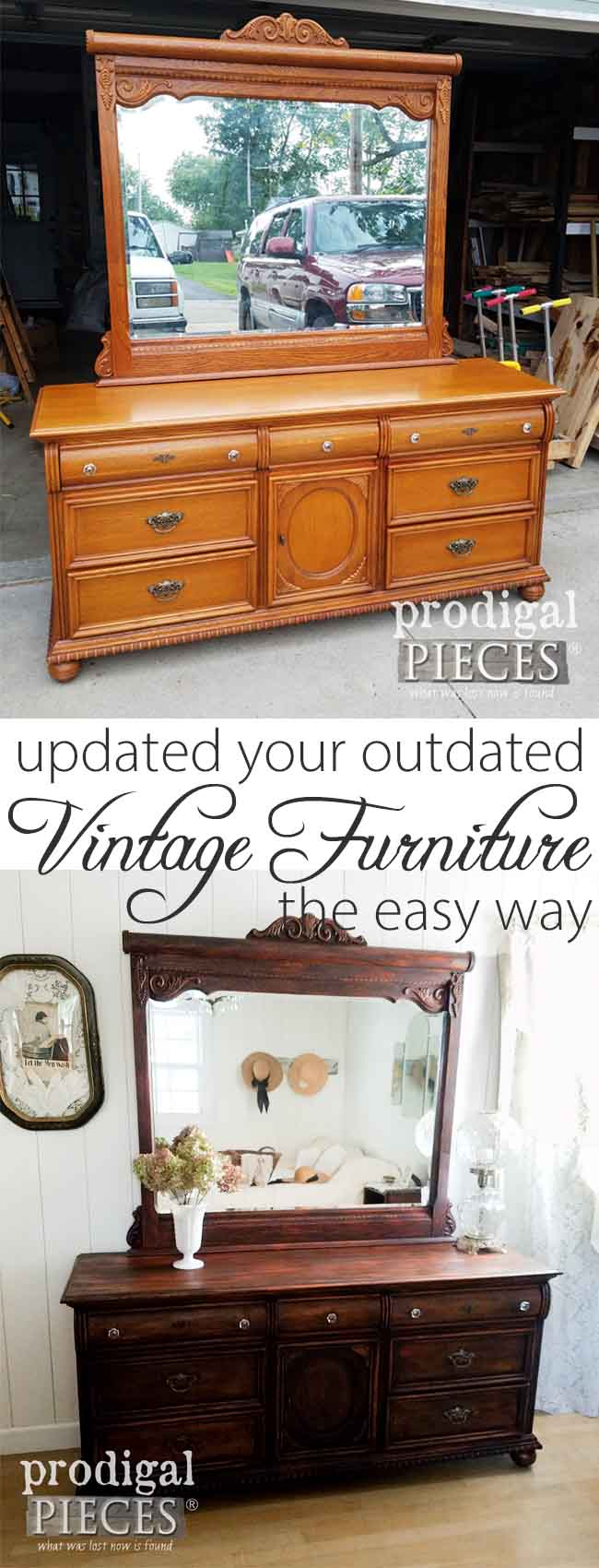 Update your outdated furniture the easy way. No sanding, no prep work, just DIY! Get the details here at Prodigal Pieces | prodigalpieces.com