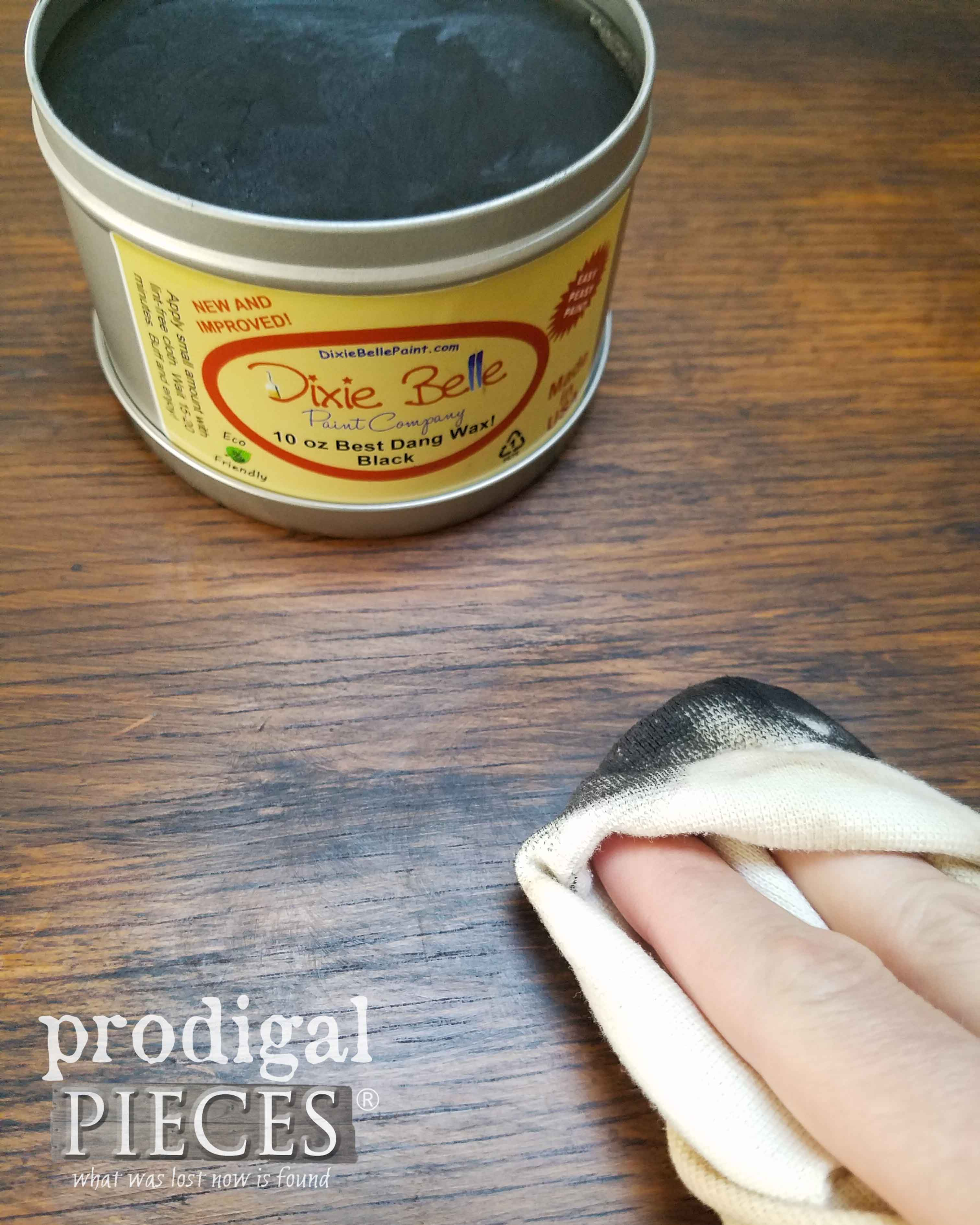 Waxing Dresser with Black Wax by Dixie Belle Paint Company | prodigalpieces.com
