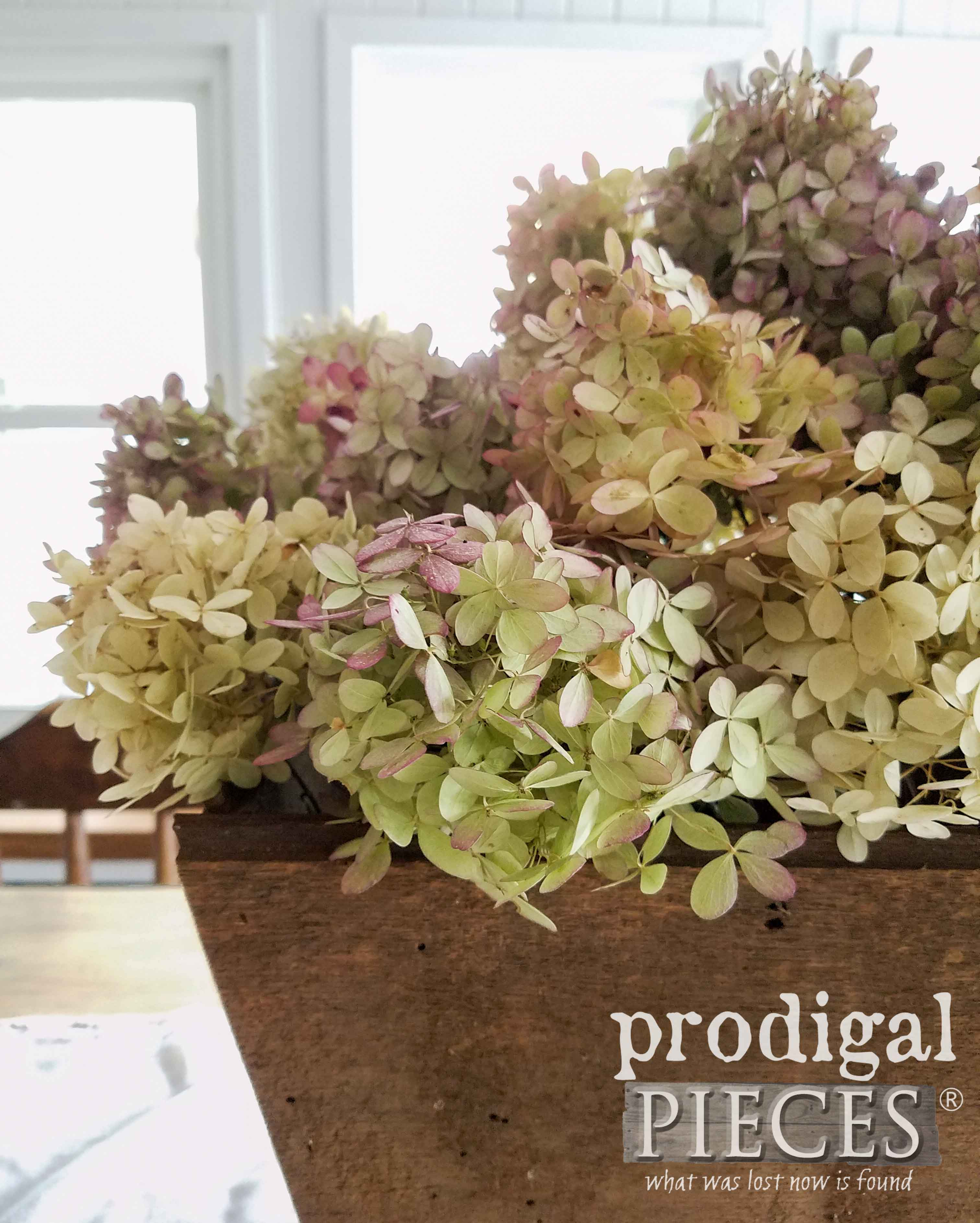 Bouquet of Hydrangea Blooms for Farmhouse Decor by Prodigal Pieces | prodigalpieces.com