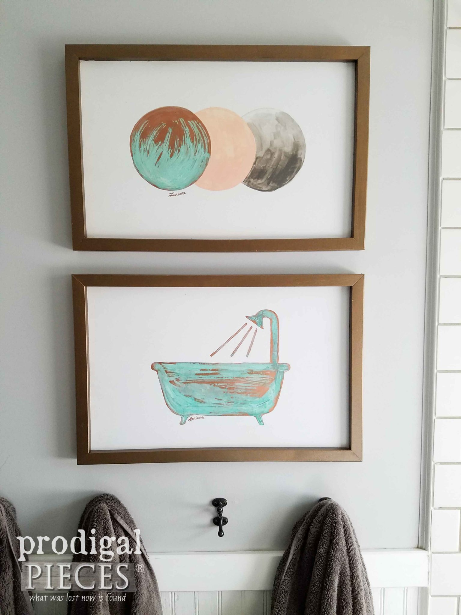 DIY Copper Wall Art made from Upcycled Bed Rails by Prodigal Pieces | prodiglapieces.com