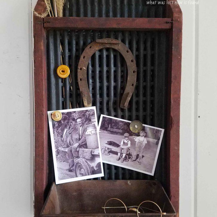 Repurposed Antique Corn Sifter Message Center by Prodigal Pieces for Flea Market Decor   prodigalpieces.com