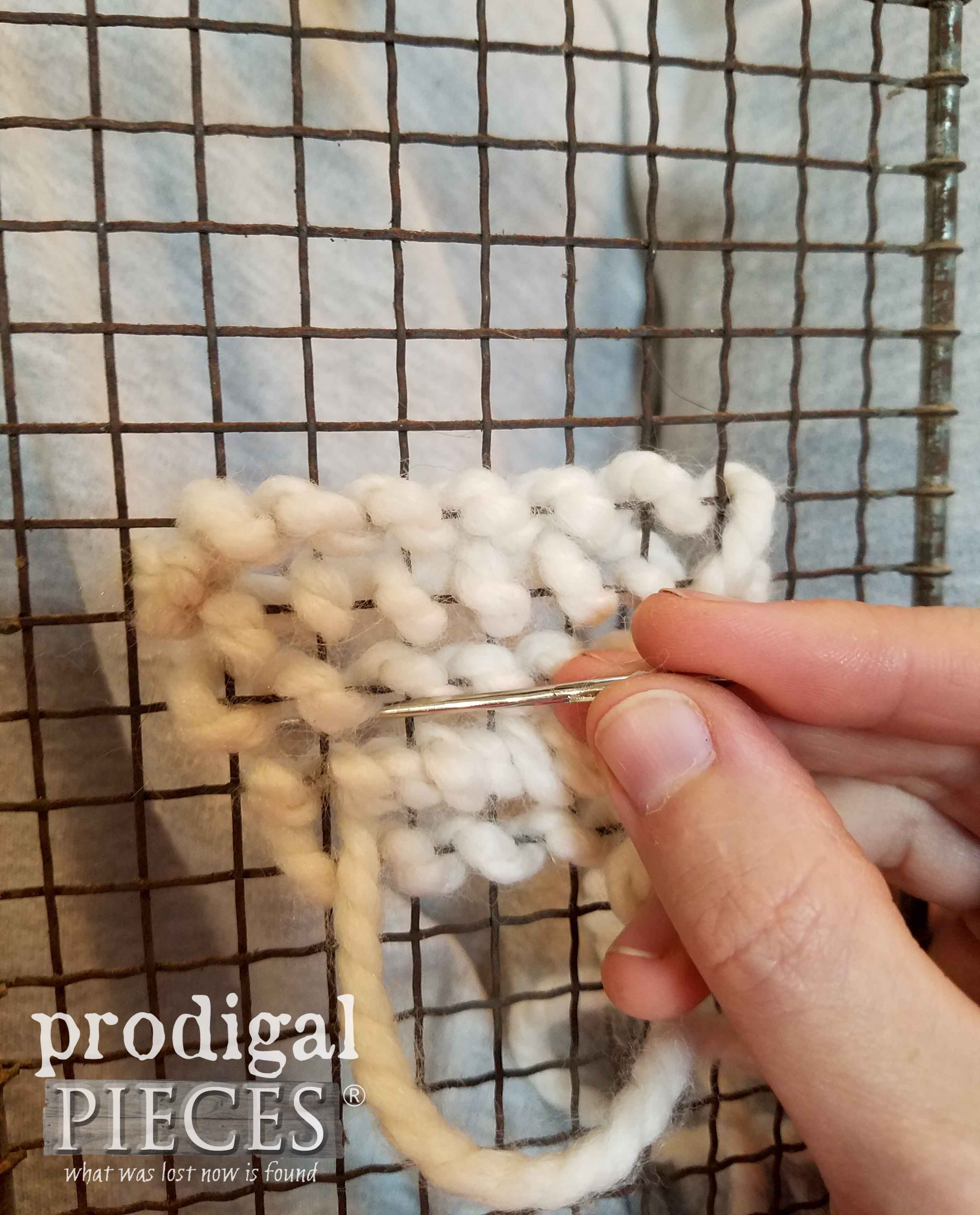 Embroidering Mesh Sifter | prodigalpieces.com