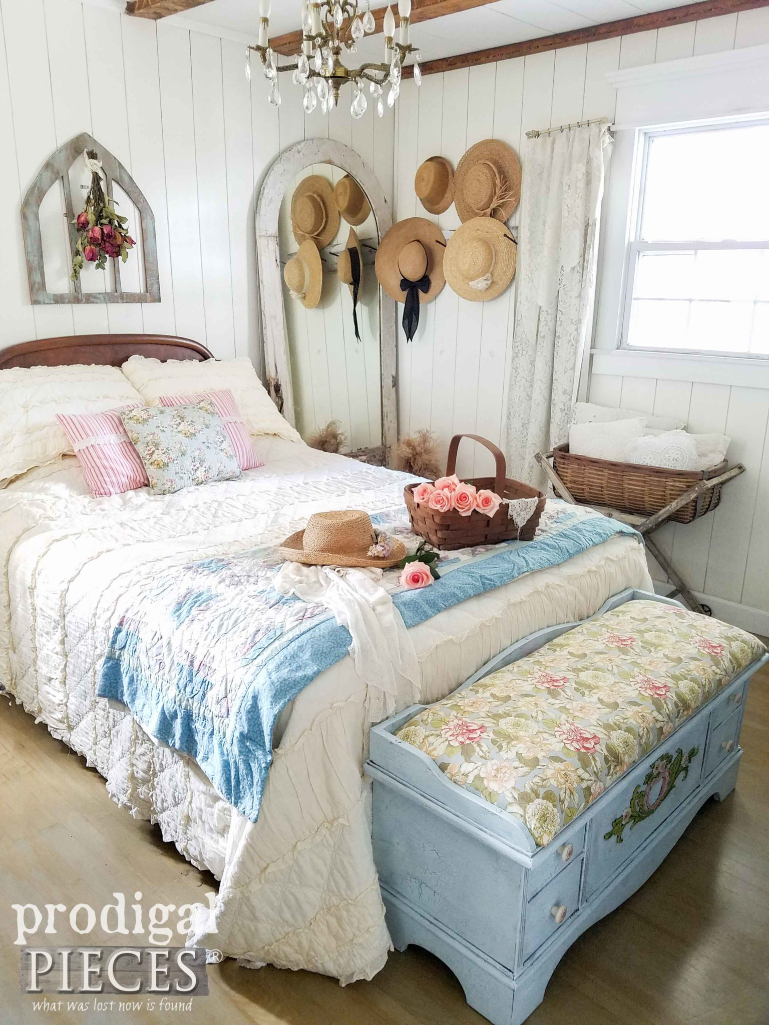 Farmhouse Bedroom by Prodigal Pieces with Cottage Style Lane Cedar Chest. Come see! | prodigalpieces.com