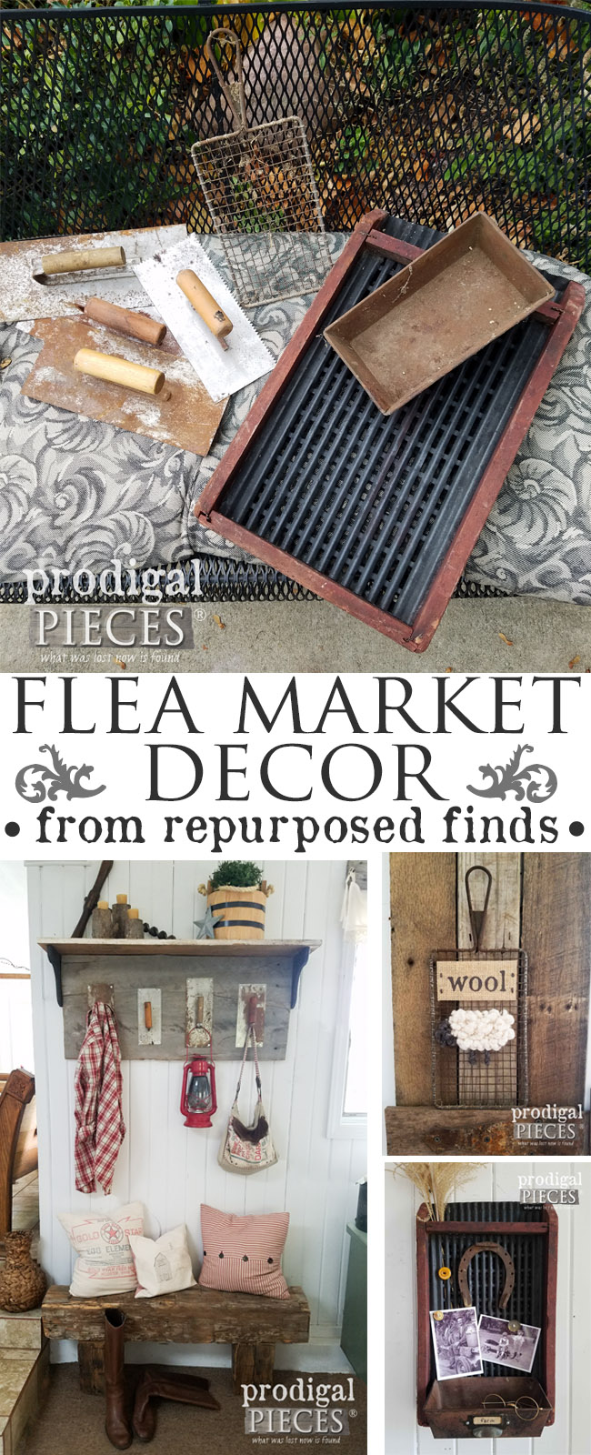 Do you love flea market decor? Check out how 3 different creations were made out of repurposed finds & all on a budget by Prodigal Pieces | prodigalpieces.com