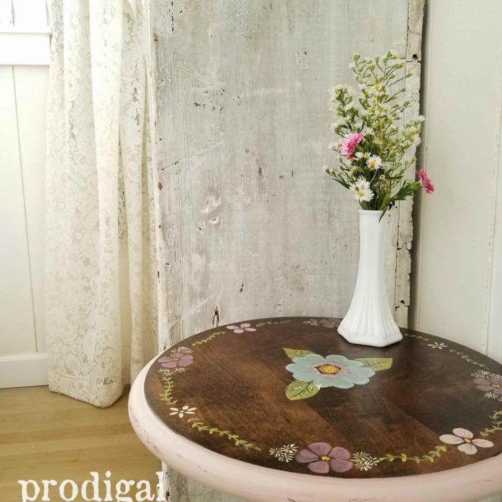 Floral Painted Ethan Allen Table by Prodigal Pieces | prodigalpieces.com