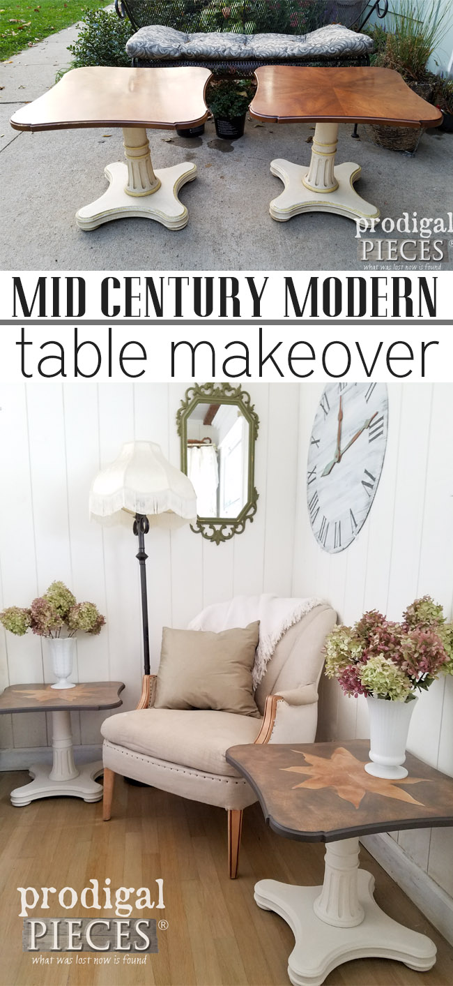 How cool! These dated Mid Century Modern Henredon tables got a new lease on life with a bit of DIY. See the transformation at Prodigal Pieces | prodigalpieces.com