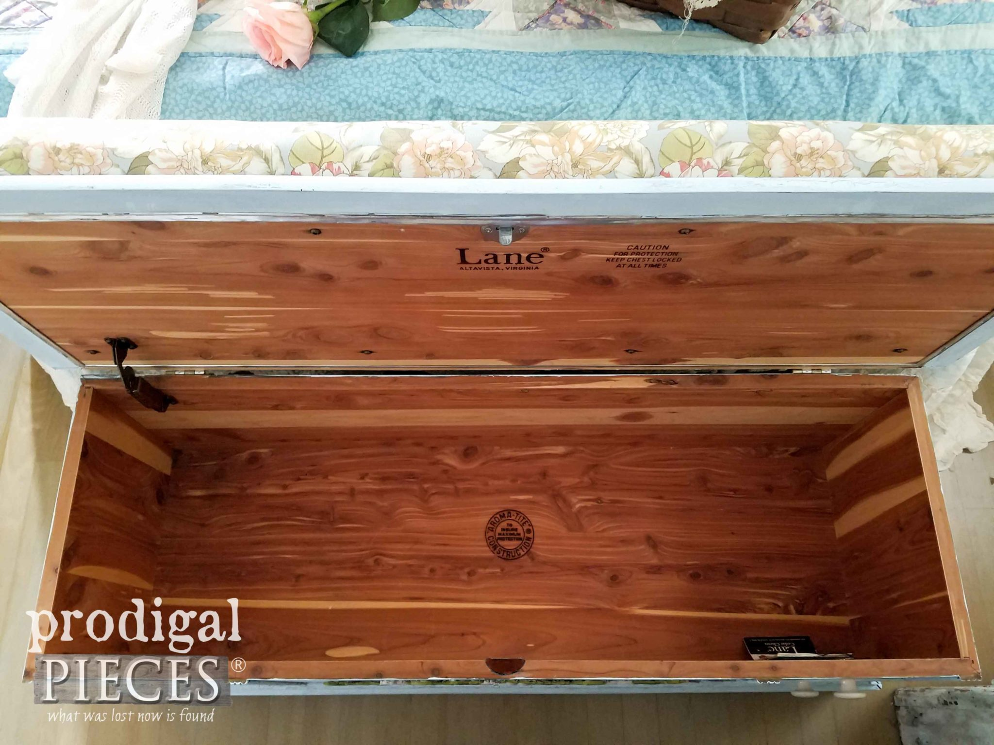 Cedar Lined Blanket Chest by Lane ~ Refinished by Larissa of Prodigal Pieces | prodigalpieces.com