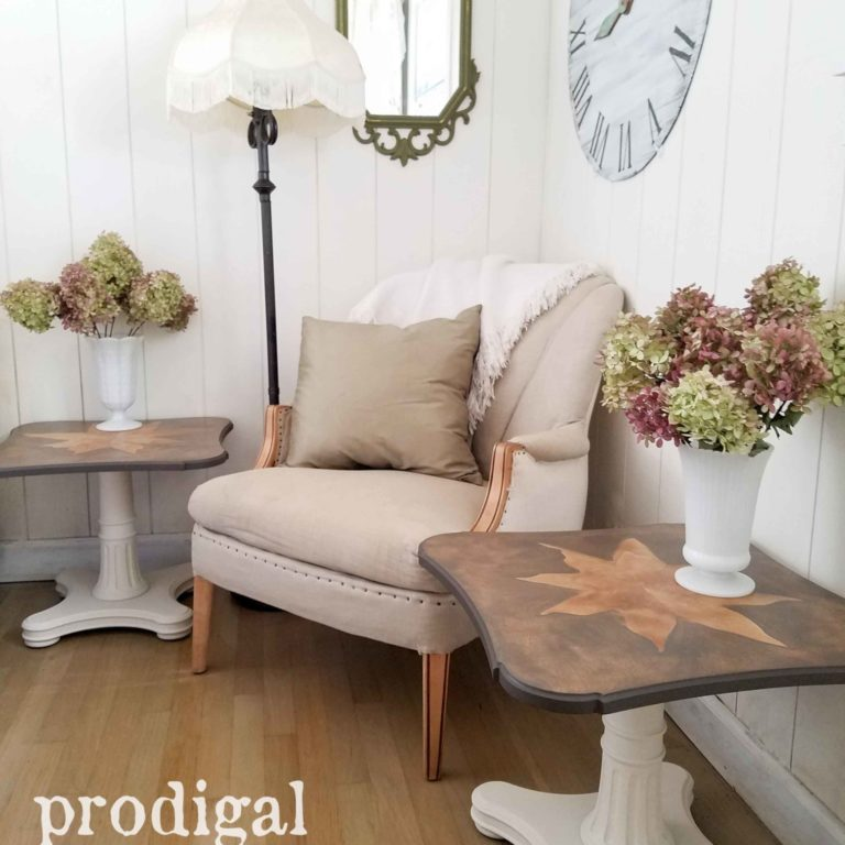 Mid Century Modern Henredon Tables Refreshed by Prodigal Pieces | prodigalpieces.com