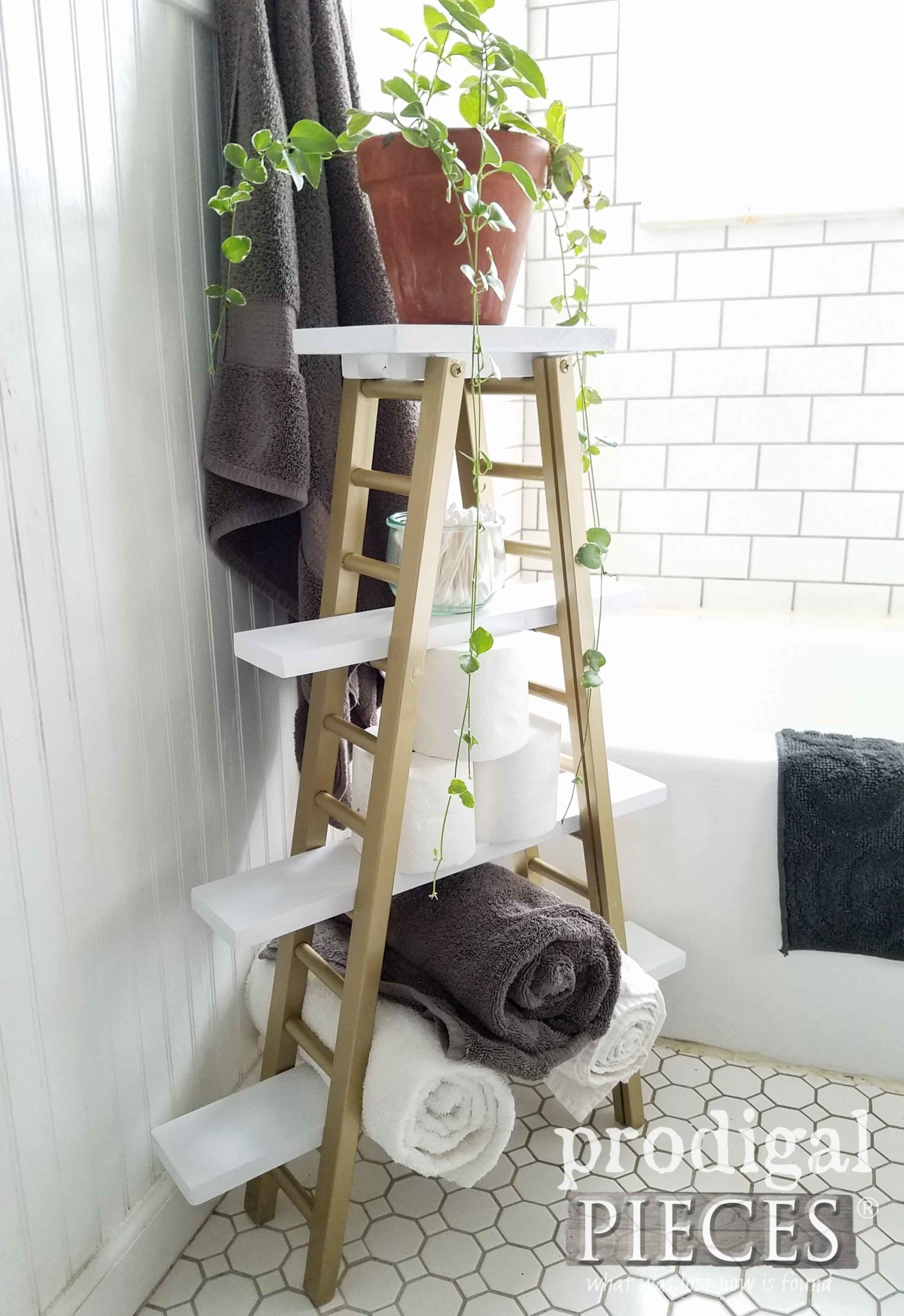 Boho Style Storage for Bathroom and More by Prodigal Pieces | prodigalpieces.com