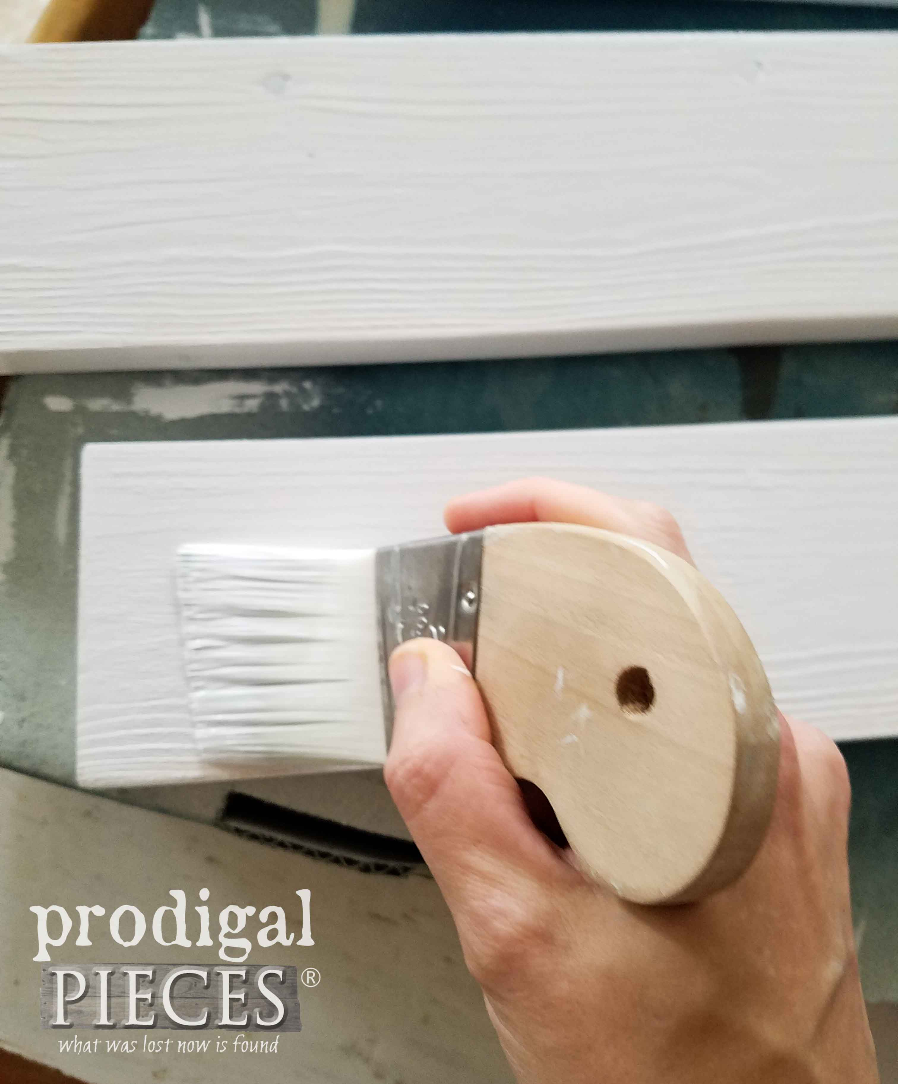 Painting Wood Shelves with Zibra Palm Pro | prodigalpieces.com