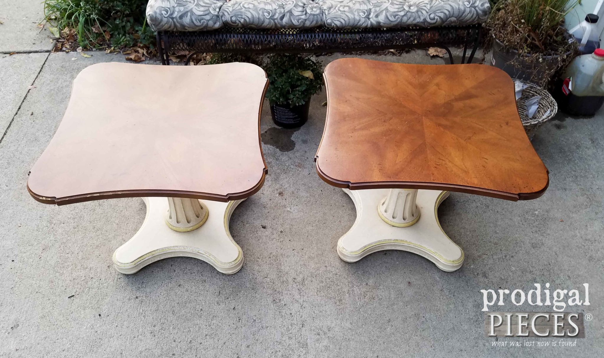 Top of Vintage Henredon Pedestal Tables | prodigalpieces.com