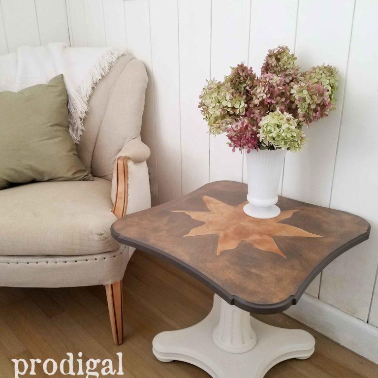 Unique Veneer on Mid Century Modern Henredon Table by Prodigal Pieces | prodigalpieces.com