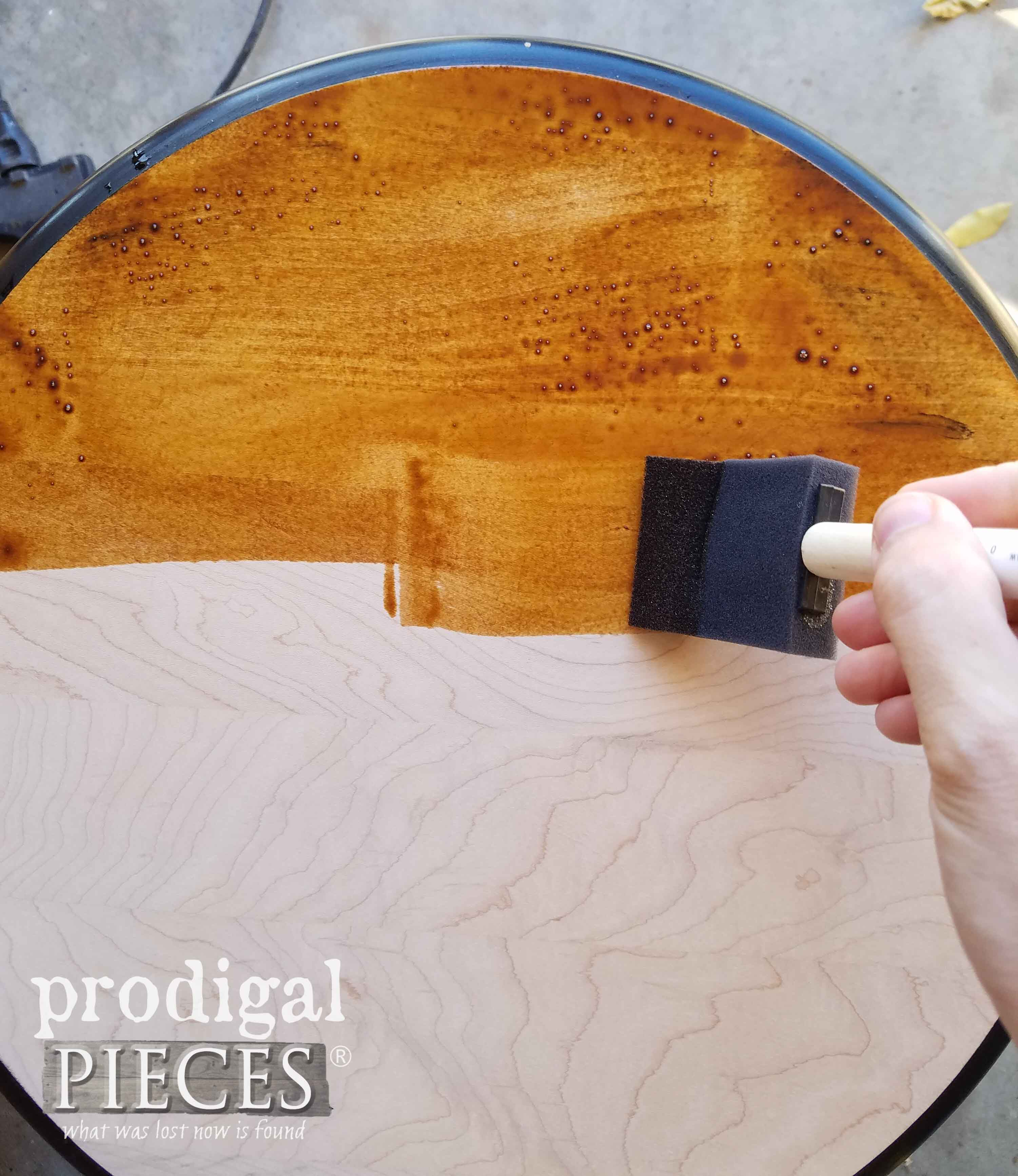 Staining Maple Table Top | prodigalpieces.com