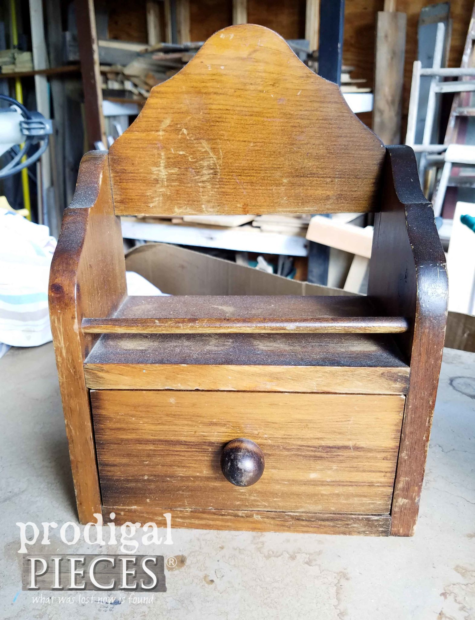 Thrifted Wood Box Before Makeover | prodigalpieces.com