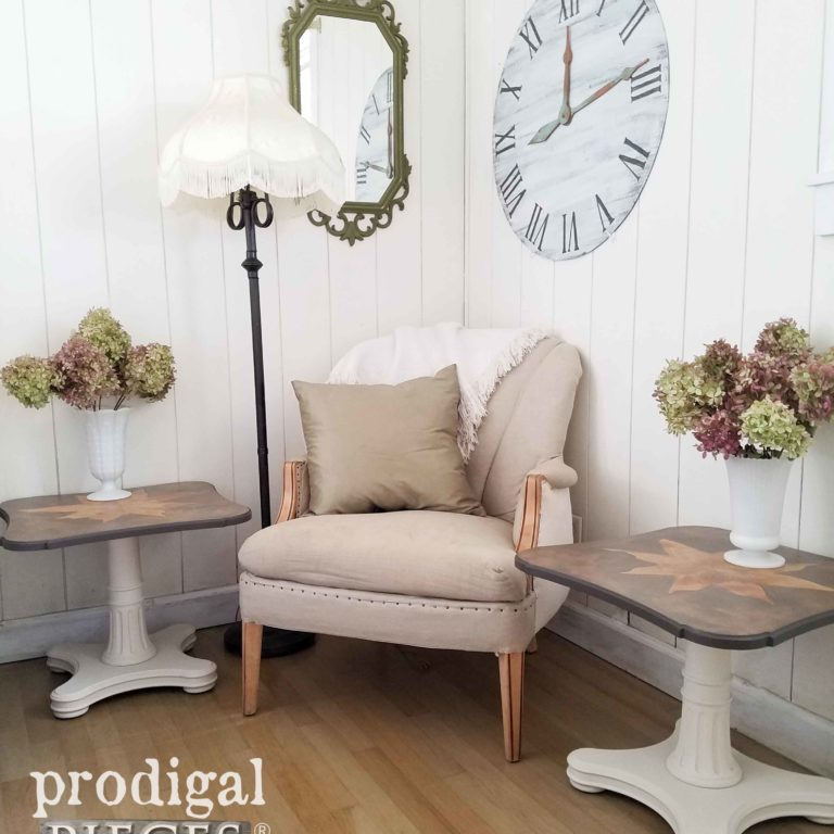 Vintage Mid Century Modern Tables by Henredon - restyled by Prodigal Pieces | prodigalpieces.com