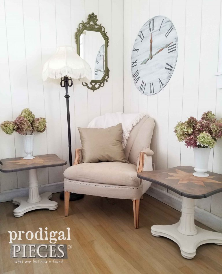 Vintage Mid Century Modern Tables by Henredon - restyled by Prodigal Pieces   prodigalpieces.com