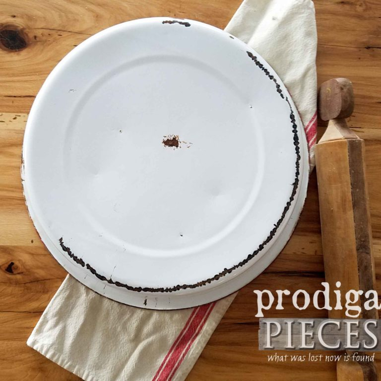 Bottom of Enamel Wash Basin in Red | availlable at prodigalpieces.com
