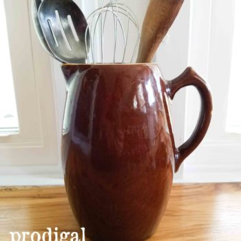 Brown Farmhouse Stoneware Pitcher | prodigalpieces.com