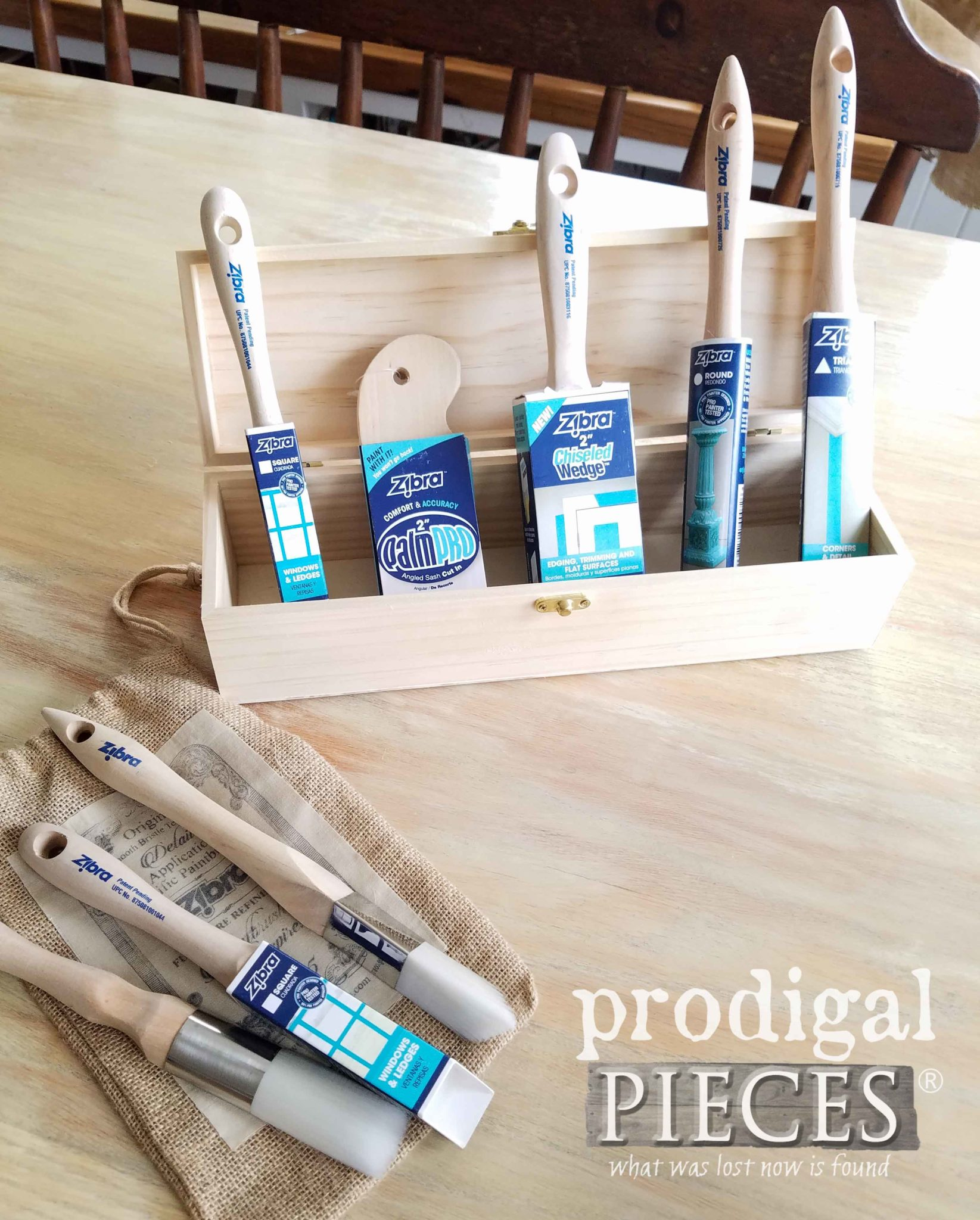 Selection of Brushes for Zibra Paint Off! as shown by Larissa of Prodigal Pieces | prodigalpieces.com