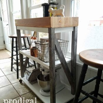 Butcher Block Kitchen Cart DIY build with reclaimed pieces by Larissa of Prodigal Pieces | prodigalpieces.com