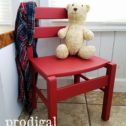 Adorable Farmhouse Child's Chair in Barn Red | Available at Prodigal Pieces | prodigalpieces.com