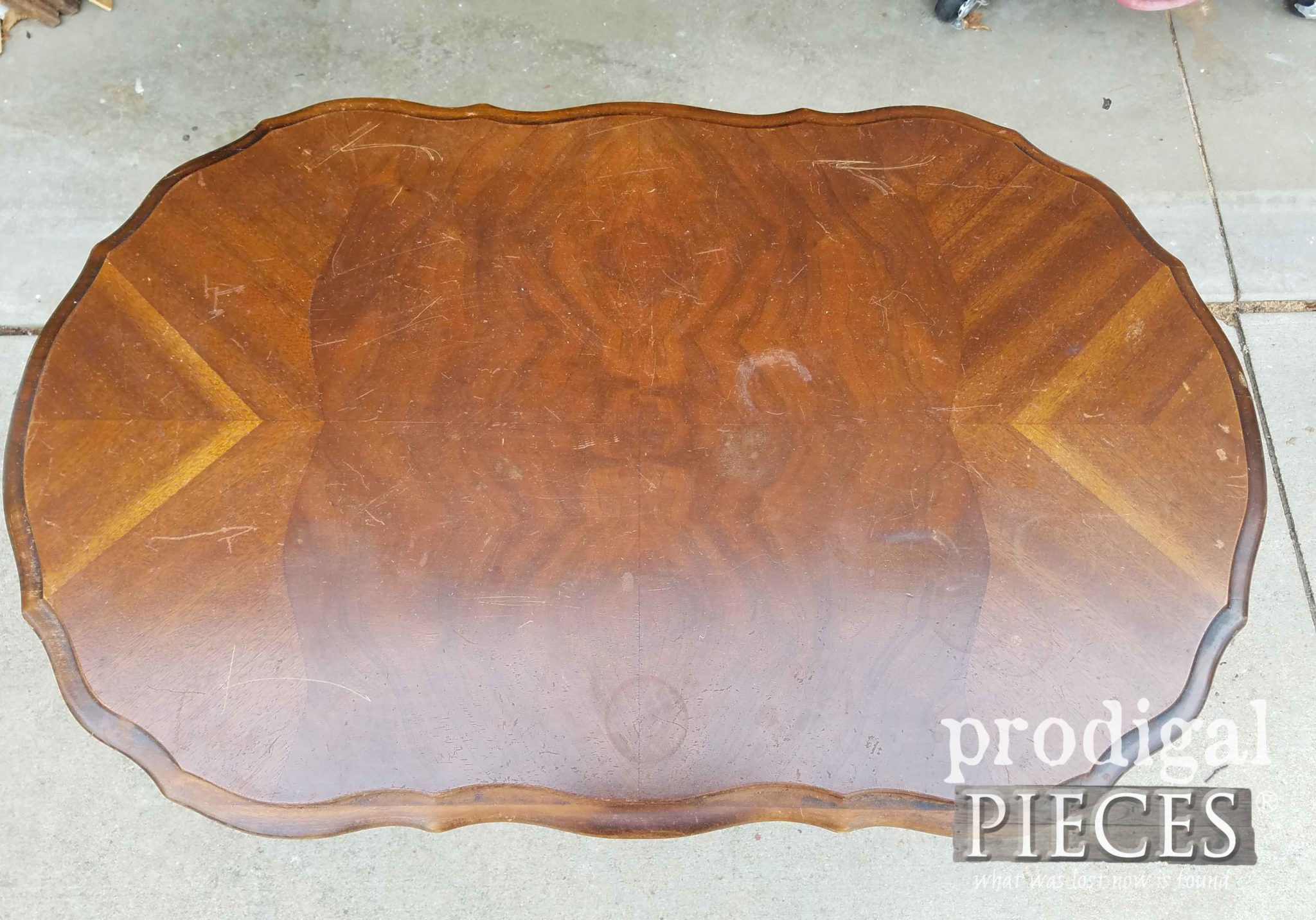 Antique Table Top in Need of Refinishing | prodigalpieces.com